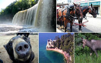 Upper Michigan Attractions, Curtis MI Attractions, Curtis Michigan Attractions, Tahquamenon Falls, Oswalds Bear Ranch, Toonerville, Waterfalls, Lighthouses, UP Attractions